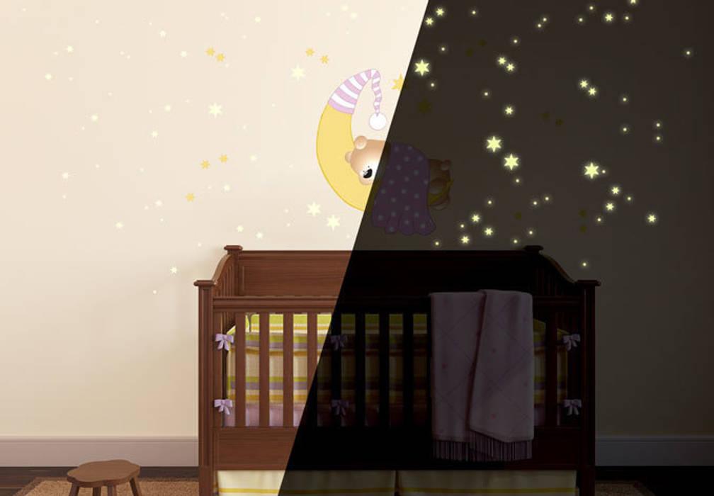 Leuchtsterne Bärchen, Mond und Sterne von K&L Wall Art Ausgefallen