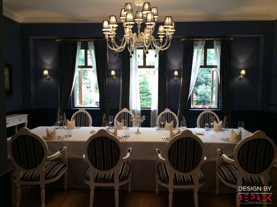 Salle de restaurant individuelle: Restaurants de style  par DEPACK DESIGN