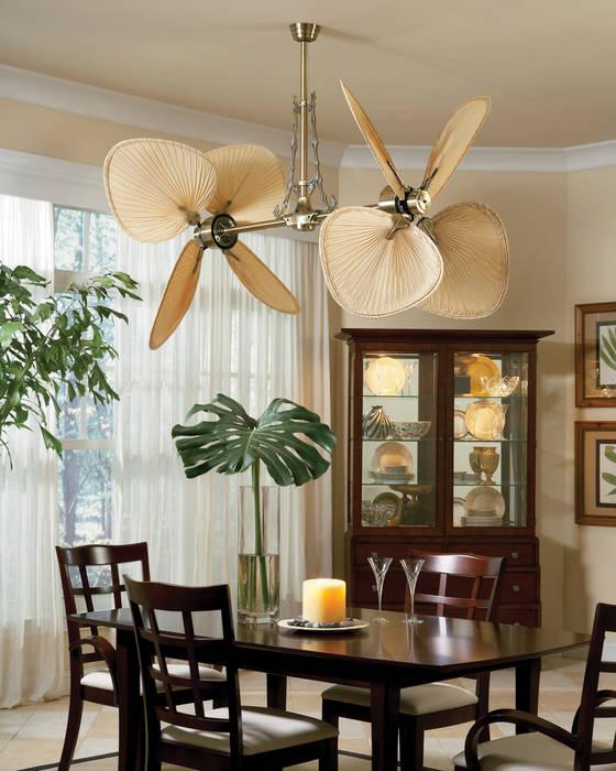 CASA BRUNO ventilador vertical Palisade: Comedores de estilo tropical de Casa Bruno American Home Decor