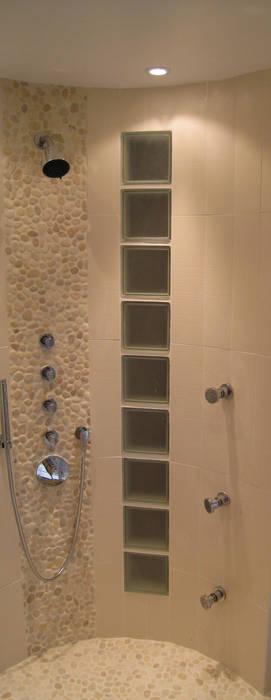 Douche en cylindre Salon par Philippe Ponceblanc Architecte d'intérieur