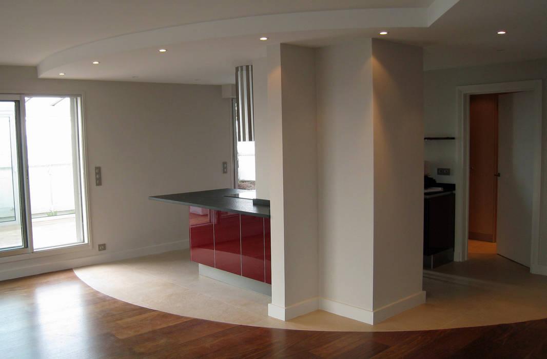 Cuisine centrale Salon par Philippe Ponceblanc Architecte d'intérieur