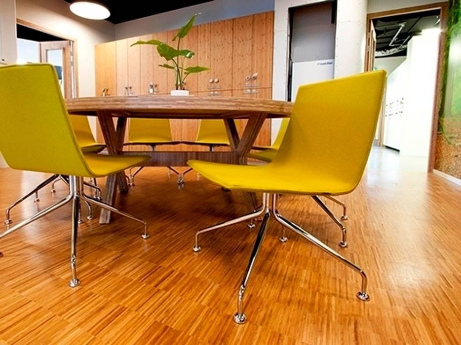 kantoor interieur Het Nieuwe Werken:  Kantoor- & winkelruimten door No Label, Modern