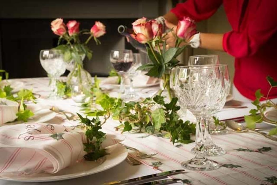 Christmas Dinner table de Nicole Phillips England Rural