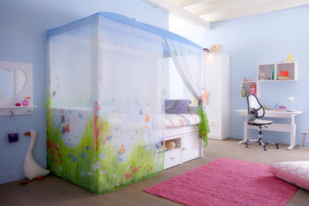 Butterfly Luxury 4 Poster Girls Cabin Bed With Storage par Cuckooland Moderne
