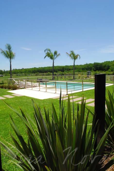 Jardín con Pileta: Jardines de estilo  por Opra Nova - Arquitectos - Buenos Aires - Zona Oeste