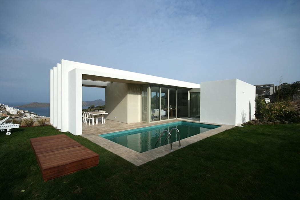 HANDE KOKSAL INTERIORS – House A1 - A1 Evi:  tarz Havuz, Modern