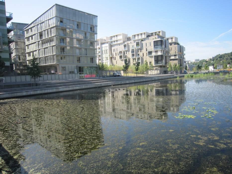 Le Parc de Saône Lyon 2ème Quartier Confluence par CAP VERT INGÉNIERIE Moderne