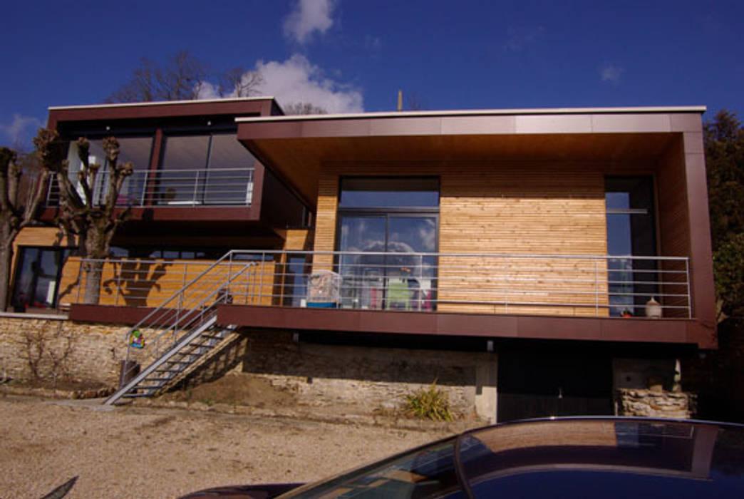 Les partie neuves.: Maisons de style de style Moderne par Atelier d'Architecture Marc Lafagne,  architecte dplg