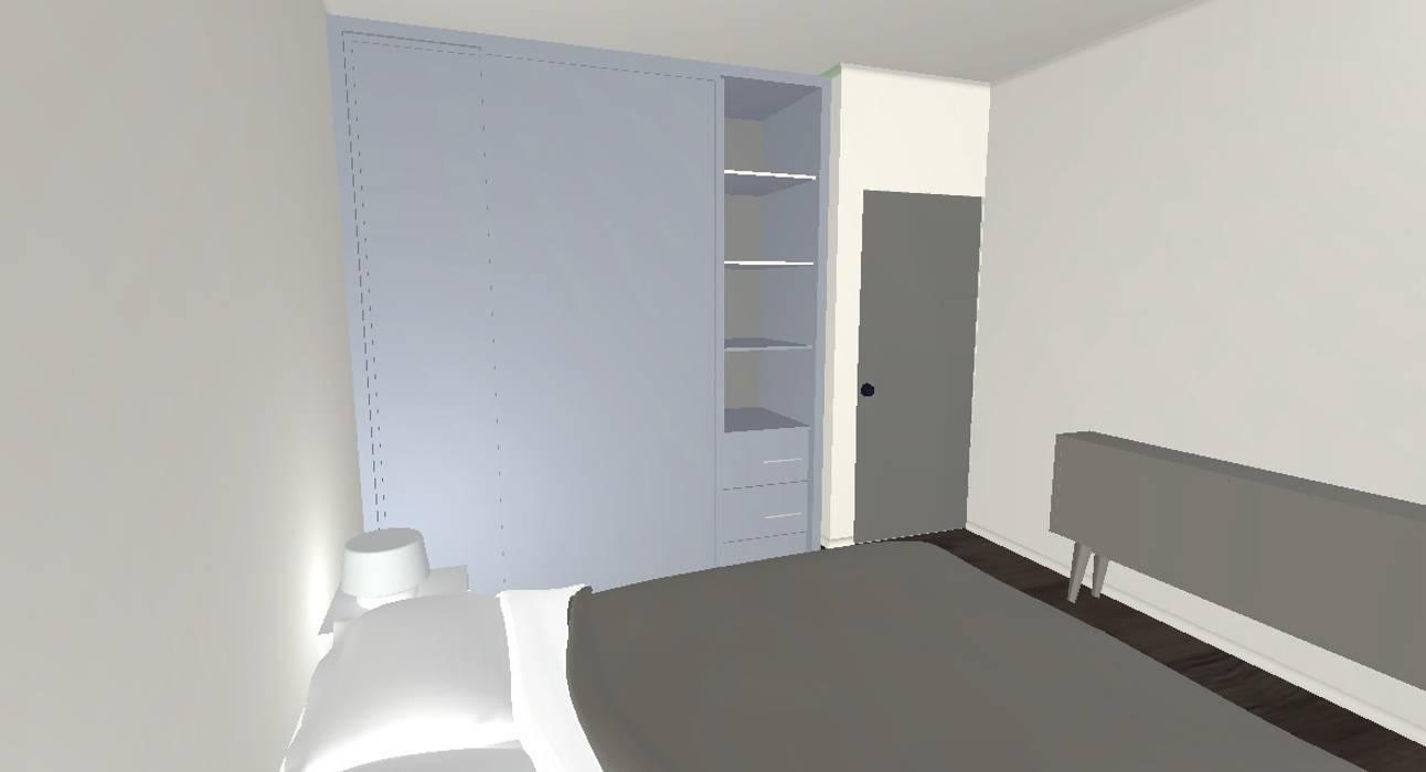 Chambre projet 3D Salon moderne par Decorexpat Moderne