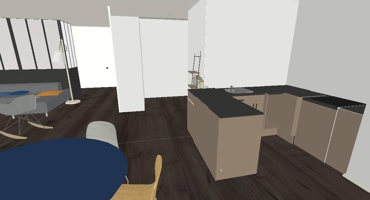 Projet 3D Salon moderne par Decorexpat Moderne