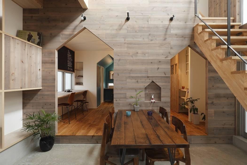 Hazukashi House: ALTS DESIGN OFFICEが手掛けた素朴なです。,ラスティック