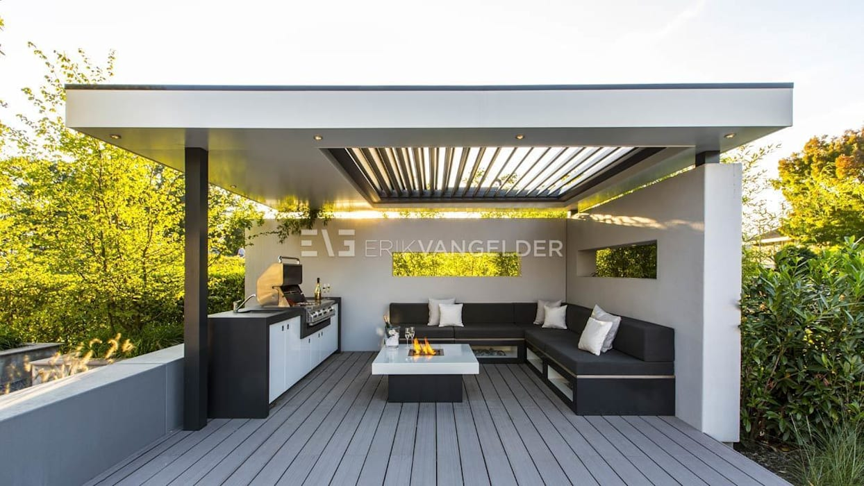 Wellness garden Barendrecht Сад в стиле модерн от ERIK VAN GELDER | Devoted to Garden Design Модерн