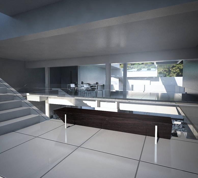 CASA POTIRA: Paredes  por FCM Arquitetura,Moderno