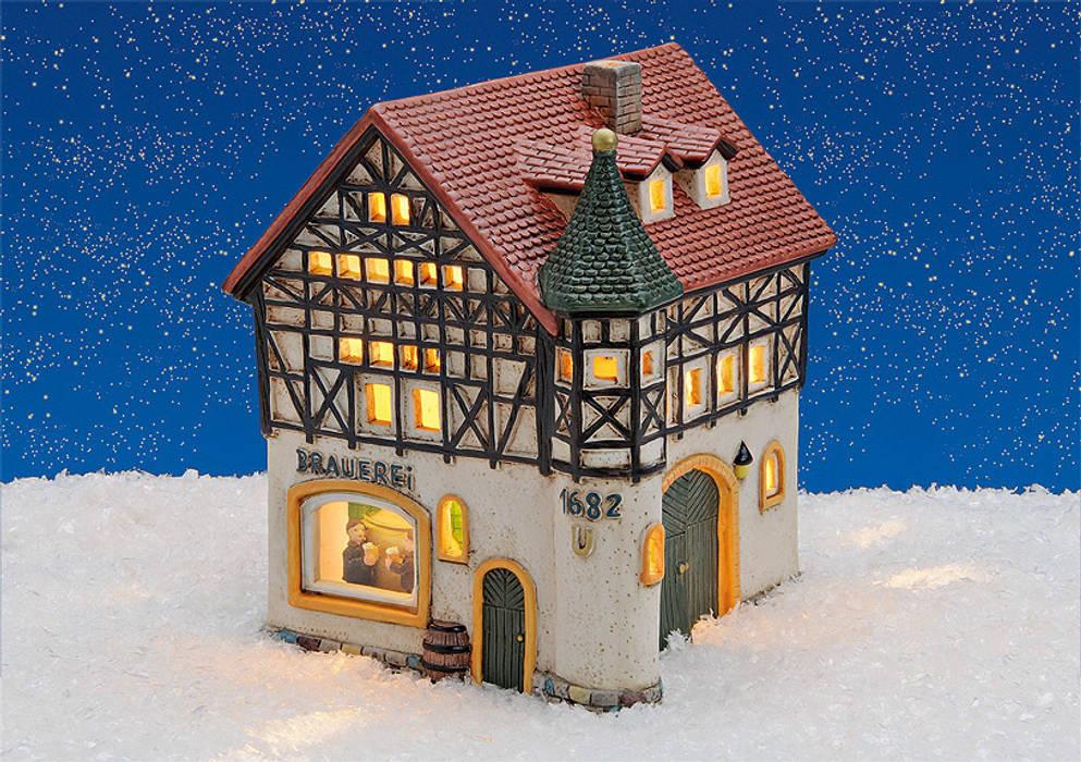 18899 Porzellan Windlichthaus Brauerei 15x16x17 Cm Wohnzimmer Von
