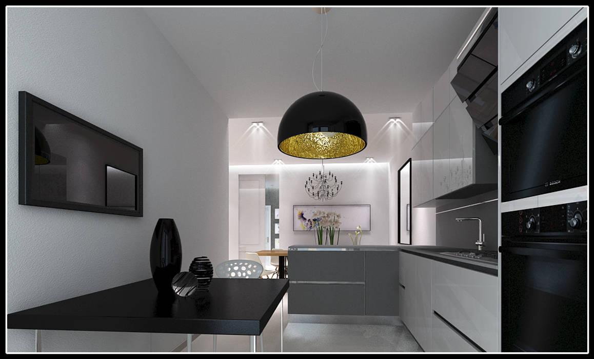 F House: Soggiorno in stile in stile Moderno di AG Interior Design