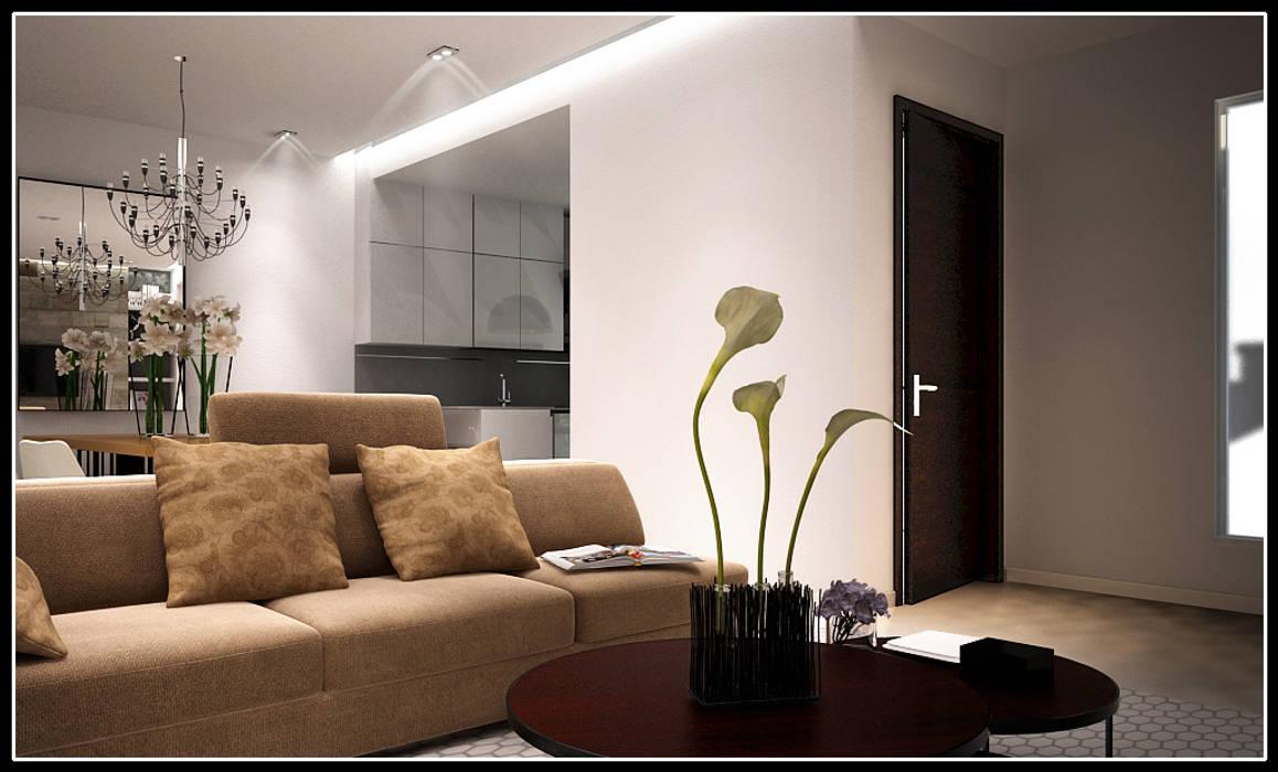 F House Soggiorno moderno di AG Interior Design Moderno