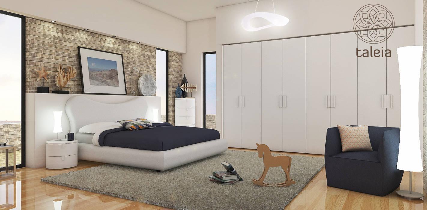 Camera da letto completa Camera da letto moderna di Taleia Moderno