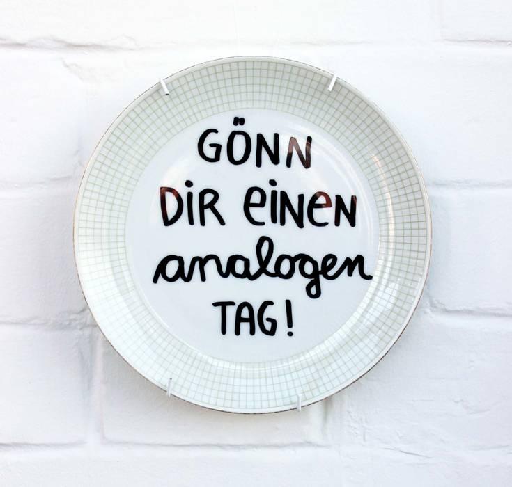 """Wandteller """"analoger Tag"""":   von mimifaktur,Minimalistisch"""