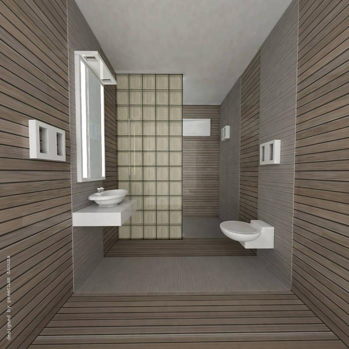 Bathroom interiors Minimalist bathroom by Preetham Interior Designer Minimalist