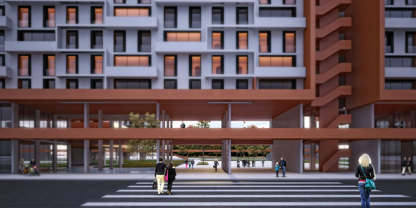 Kolektif Mimarlar Ltd. – Çanakkale Sosyal Konutlar Mevkii Kentsel Yenileme Projesi: modern tarz , Modern