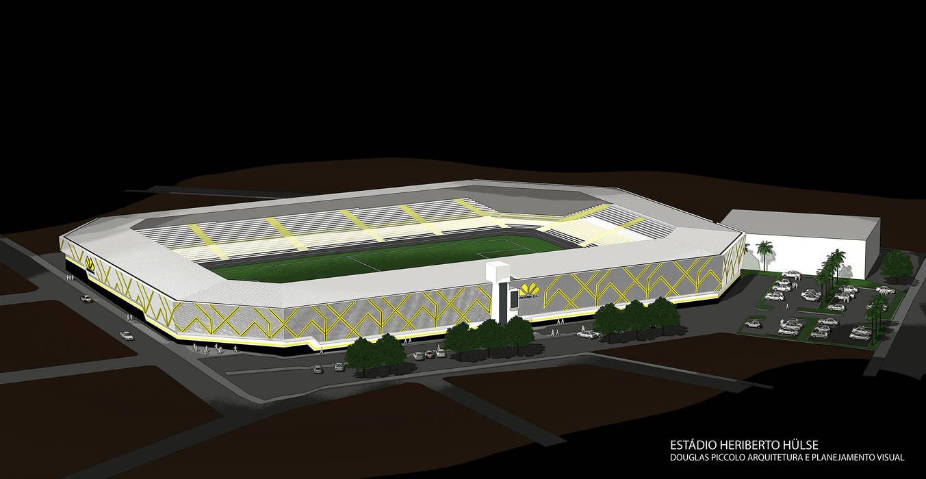 Vista aérea Rua Leone Perassoli: Fitness  por Douglas Piccolo Arquitetura e Planejamento Visual LTDA.