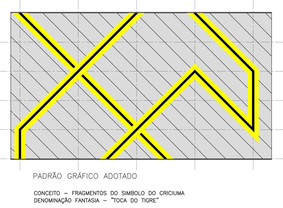 Padrão Gráfico Adotado: Fitness  por Douglas Piccolo Arquitetura e Planejamento Visual LTDA.