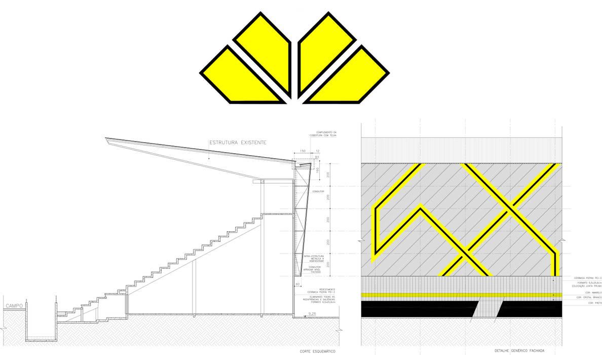 Detalhe técnico.: Fitness  por Douglas Piccolo Arquitetura e Planejamento Visual LTDA.