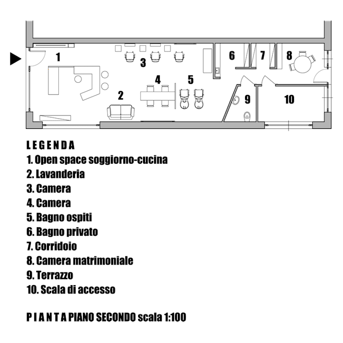 planimetria: Negozi & Locali commerciali in stile  di Andrea Stortoni Architetto