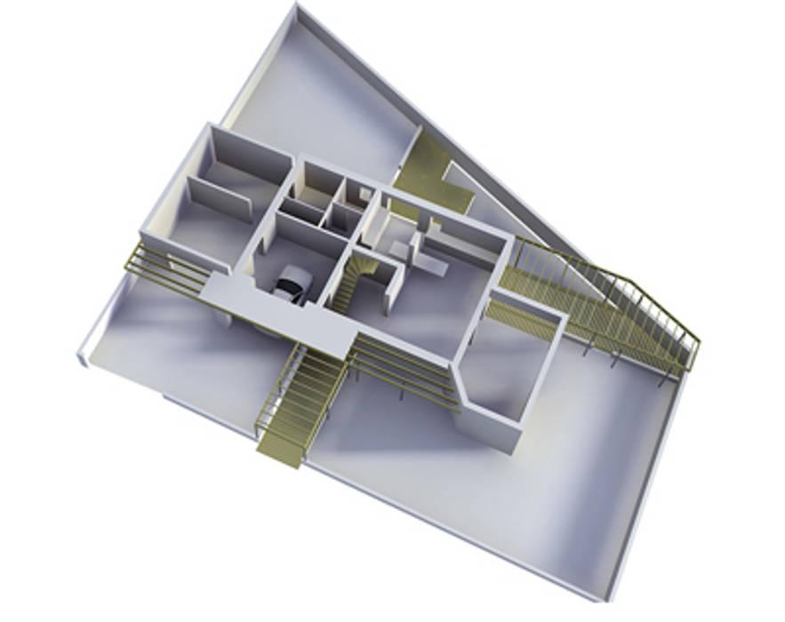 Maison Individuelle - Grenoble Maisons modernes par ISIT ARCHITECTURE Moderne