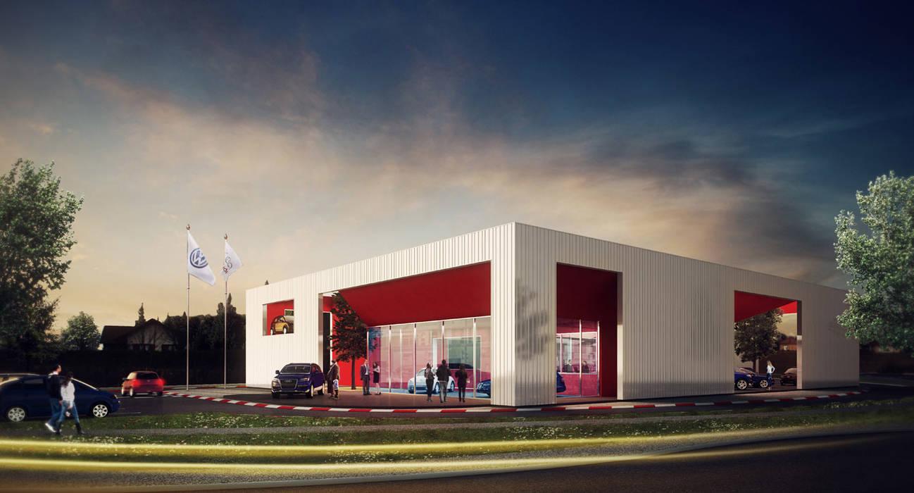 Garage - Concession Volkswagen Maisons modernes par ISIT ARCHITECTURE Moderne