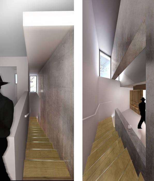 Maison Individuelle - Circulations Maisons modernes par ISIT ARCHITECTURE Moderne
