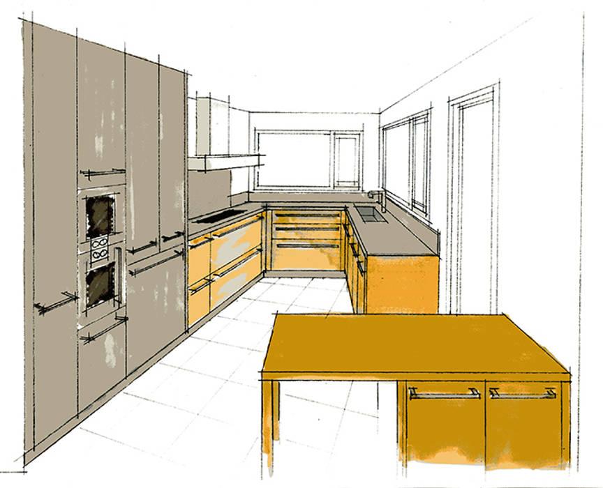Cuisine - Maison individuelle Maisons modernes par ISIT ARCHITECTURE Moderne