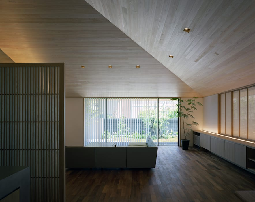 House in Satsuma Maisons modernes par 柳瀬真澄建築設計工房 Masumi Yanase Architect Office Moderne