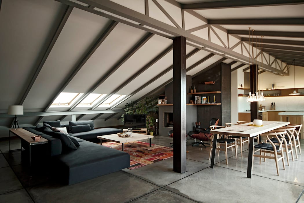 Loft Conversion In Nisantasi Modern home by FLAT C/ ARCHITECTURE Modern