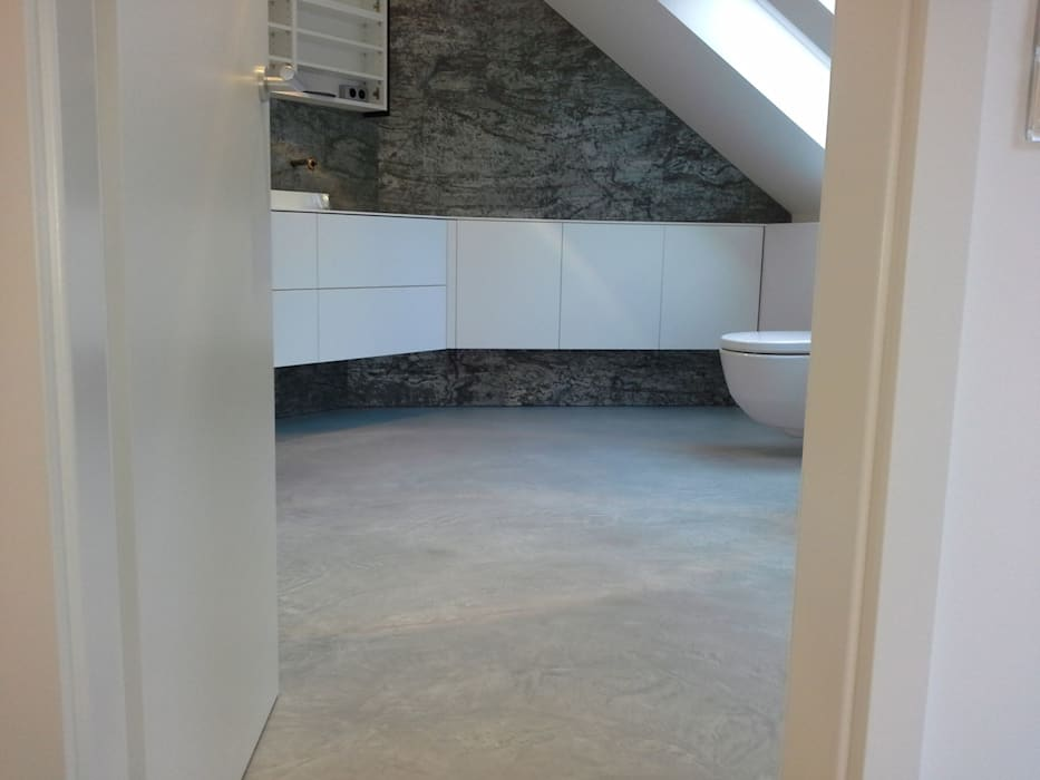 Fußboden In Beton ~ Bad fussboden aus beton ciré moderne badezimmer von welschwalls