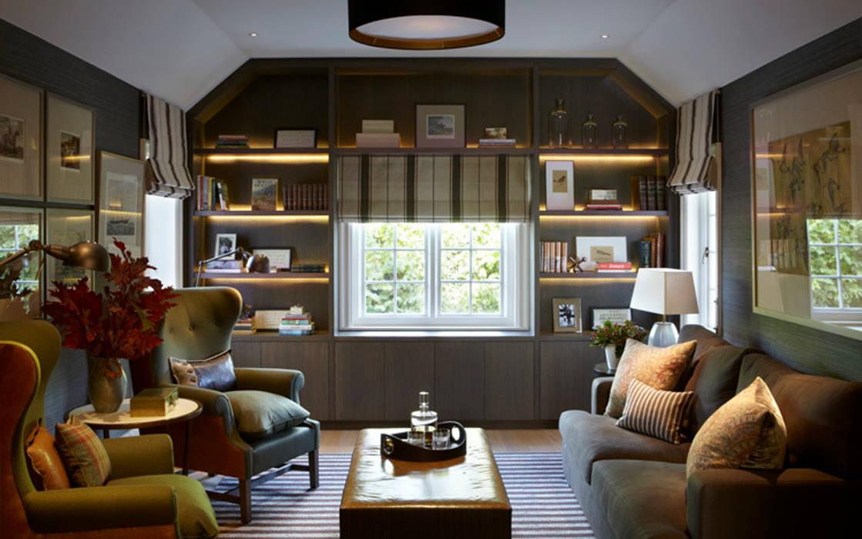 Country House, Hampshire Livings de estilo de Helen Green Design Rural