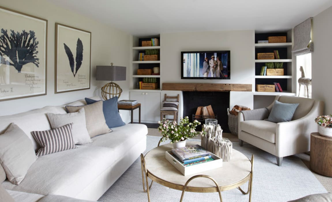 Country House, Hampshire Wohnzimmer im Landhausstil von Helen Green Design Landhaus