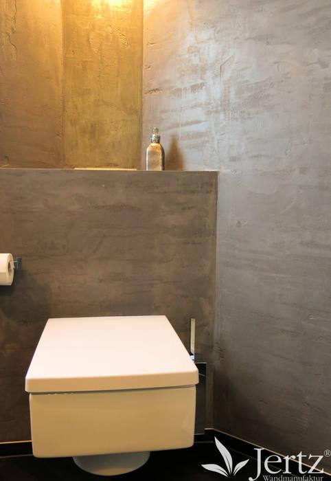 Badezimmer ohne fliesen mit marmorputz in travertinoptik ...