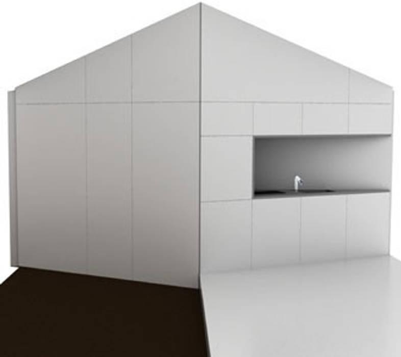 Recreatie woning Moderne keukens van 2by4-architects Modern