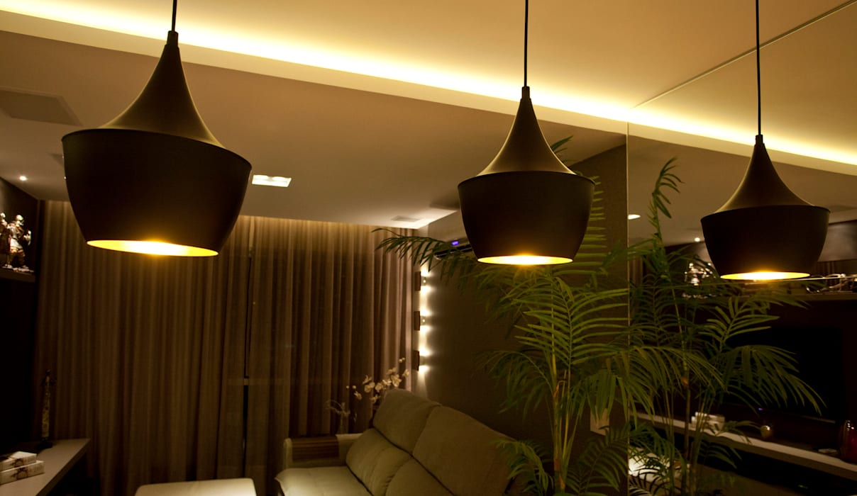 PROJETO LUMINOTÉCNICO Salas de estar modernas por Leles Arquitetura e Iluminação Moderno