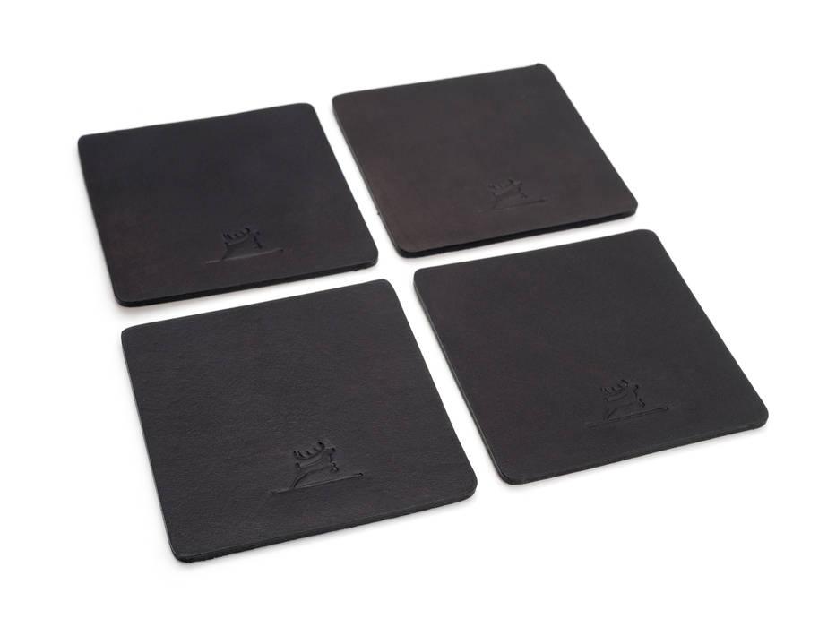Leather Coasters Black von Rothirsch GmbH