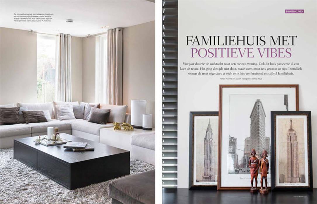 heerlijk familiehuis:  Woonkamer door choc studio interieur
