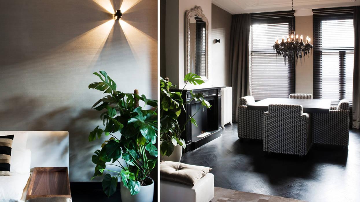wonen in hotelsfeer:  Woonkamer door choc studio interieur