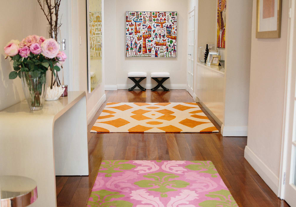 Indie Style Interiors - custom rug design Eclectic style corridor, hallway & stairs by Indie Style Interiors Eclectic