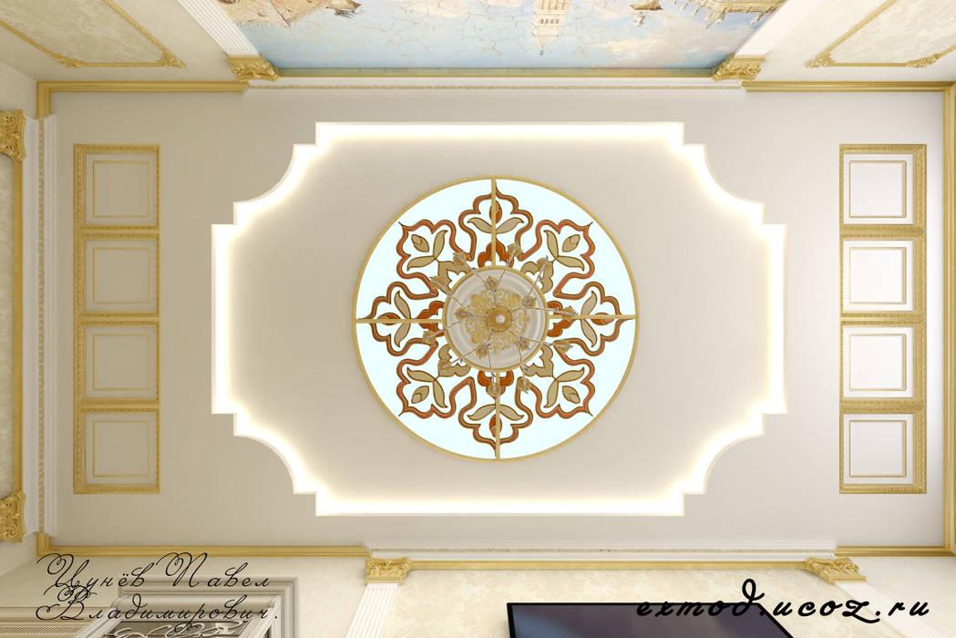 Квартира в Москве, гостиная.: Гостиная в . Автор – Дизайн студия 'Exmod' Павел Цунев