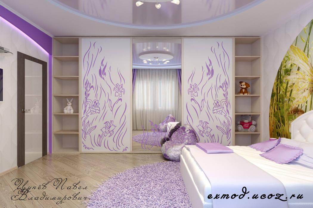 Детская для маленькой феи Цунёв_Дизайн. Студия интерьерных решений. Детская комната в стиле модерн