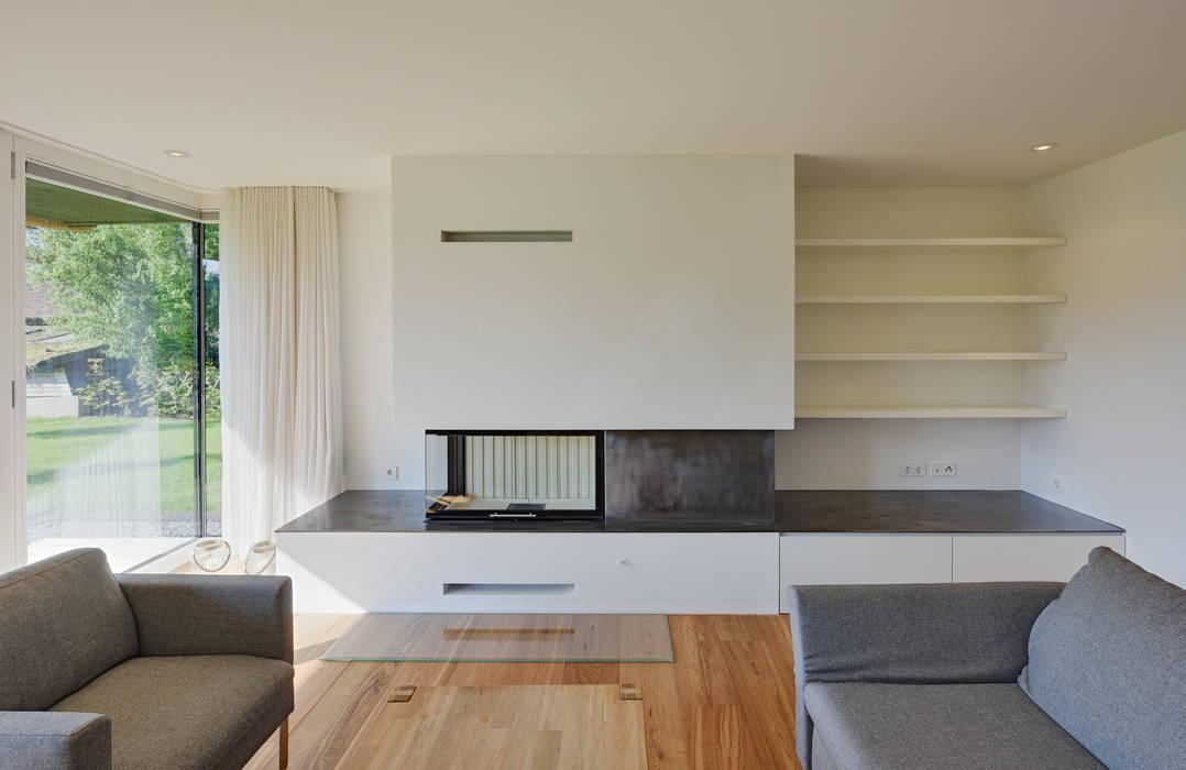 Wohnbefeich Mit Kamin Wohnzimmer Von Mohring Architekten Homify