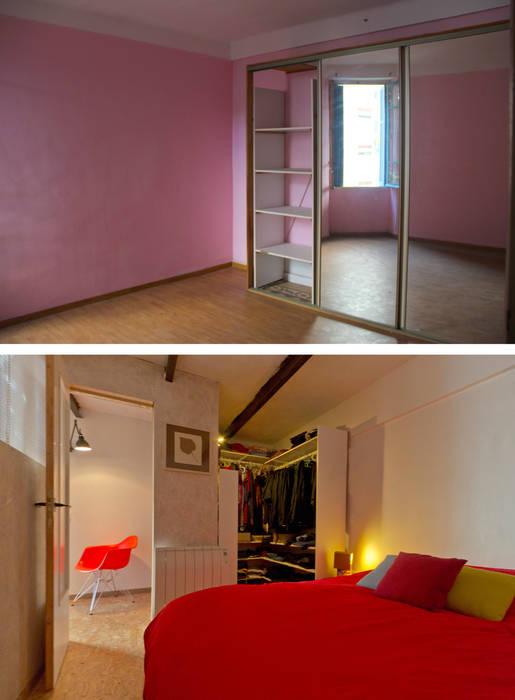 La chambre avant et après par Atelier RnB Éclectique