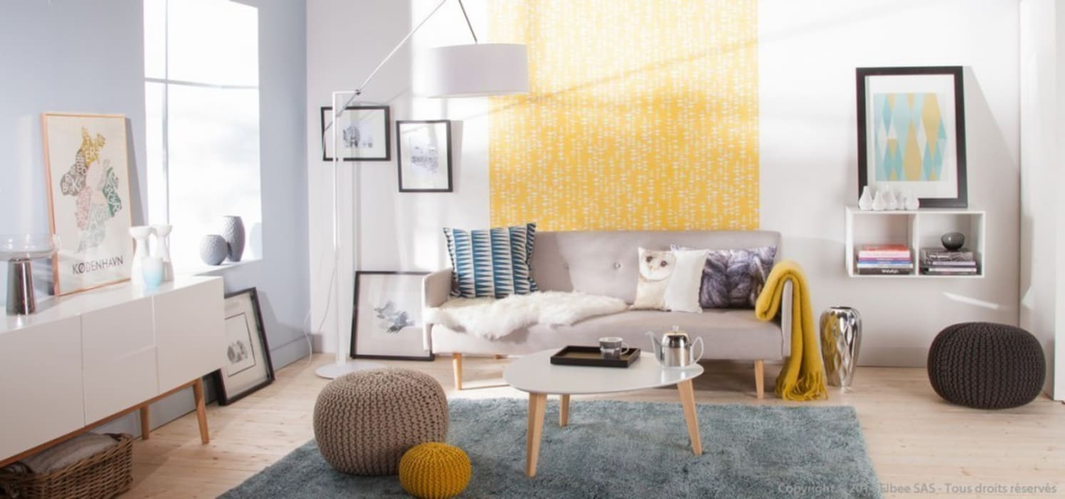 Scandinavian living room Salon scandinave par homify Scandinave