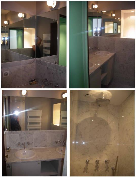 salle de bain: Salle de bains de style  par Laure van Gaver